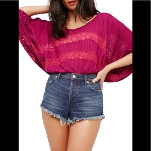 Free People I'm Your Baby Pullover Top NWT New
